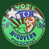 1972 McGovern for President Pinback by Peter Max