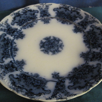Flow Blue (?) Plates and Cups - China and Dinnerware