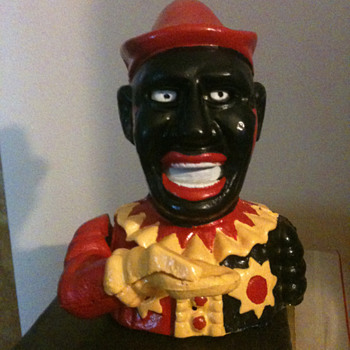 Black Americana Mechanical Bank Humpty Dumpty - Coin Operated