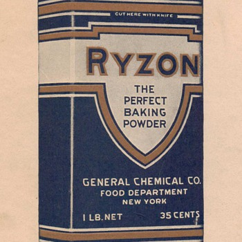 1917 - Ryzon Baking Powder Advertisement - Advertising