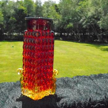 Amberina Bottle/Vase - Art Glass