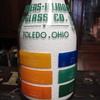 Owens Illinois Glass Co. Toledo, Ohio color sample milk bottle