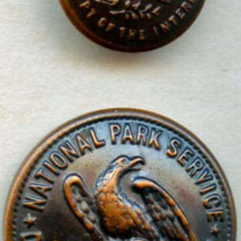 National Park Service uniform buttons