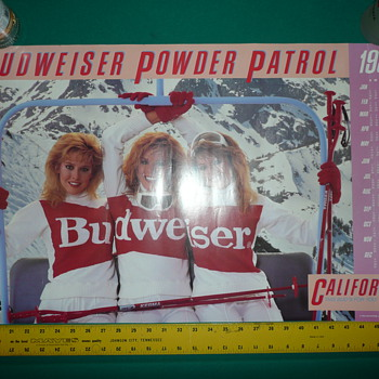 1987 Budweiser California Powder Patrol Poster