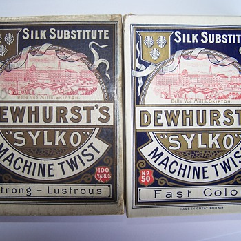 Dewhurst Sylko thread, boxes and related items.