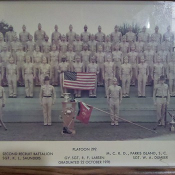 Vietnam Era USMC Boot Camp Graduation photo 1970 - Military and Wartime