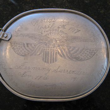 WW I Mess Kit  Trench Art  89th Division