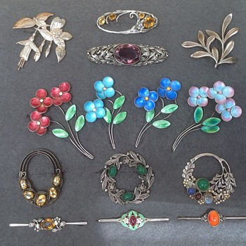 Collection of Bernard Instone Brooches