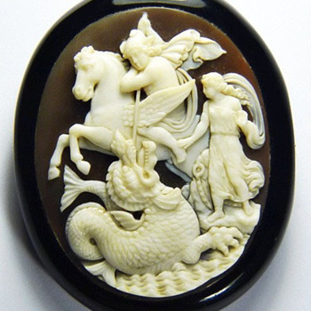 Rare cameo of Perseus and Andromeda - Victorian Era