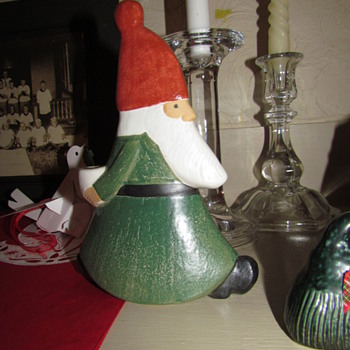 Swedish Tomte Candle Holder by Lisa Larson - Gustavsberg Sweden - Christmas