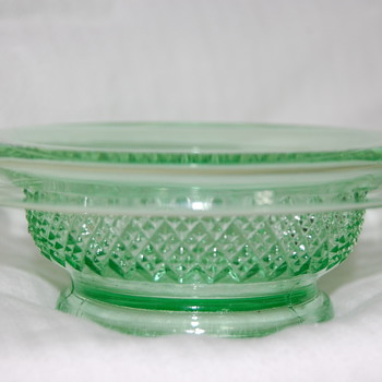 Little Green Glass Bowl - Glassware