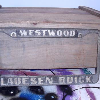 Westwood Lauesen Buick plate.
