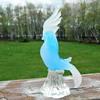 Blue and White Art Glass Cockatoo