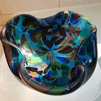 1955 ashtray from Aurelius Toso glass work's designed by Dino Martens