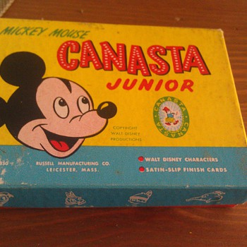 Vintage 1950's Mickey Mouse Canasta Junior Card Game - Movies