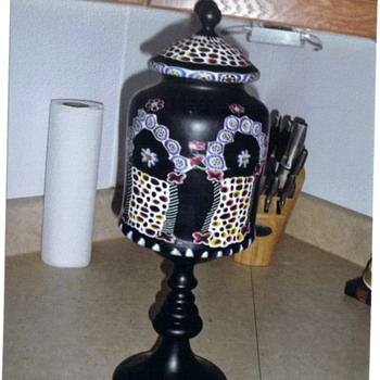 Antique Black Lamp - Lamps