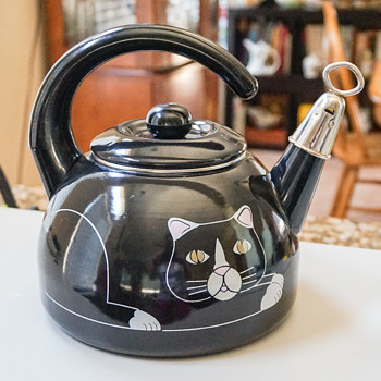 Black Cat Tea Pot - Kitchen