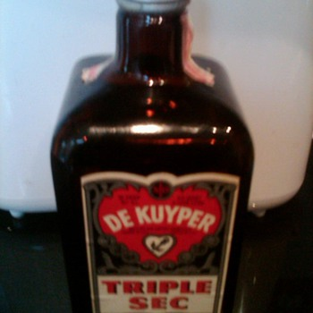 WWII Era De Kuyper Triple Sec bottle - Bottles