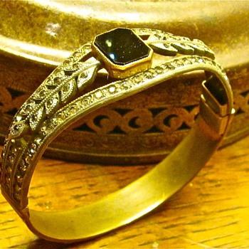 Allco brass cuff bracelet - Costume Jewelry