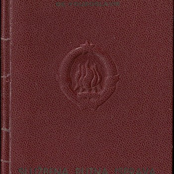 1952 Service passport for Bonn - Paper