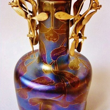 Loetz Rubin Matt Iris DEK I-117.  (c.1900) - Art Glass