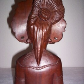 Asian Wood Busts - Asian