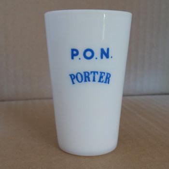 Feigenspan P. O. N. Porter Tasting Glass - Breweriana