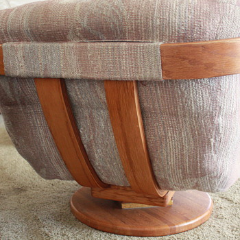 Mid to Late Century Large Bent Plywood Swivel Rocker