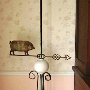 Early 1900's Pig Lightning Rod/Weather Vane  - Folk Art