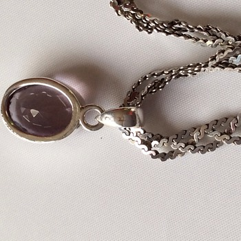 Pink stone pendant