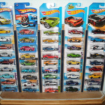Die Cast Hot Wheels ~ 45 Mustangs on Display