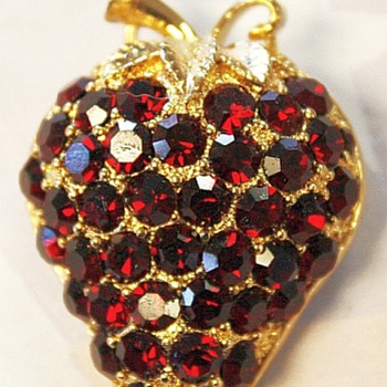 Eisenberg Large Strawberry Brooch - Costume Jewelry