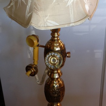 Brass Telephone Floor Lamp