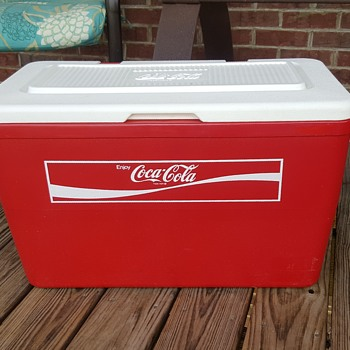 Large Vintage Plastic Coca Cola Cooler