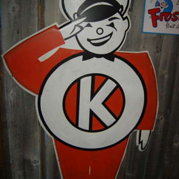 Need Information on Vintage Kayo Die Cut Metal/Tin Tire Sign? - Advertising