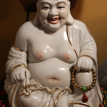 Large Porcelain Buddha - Asian