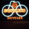 Suzuki Bicycle Lighted Shop Sign