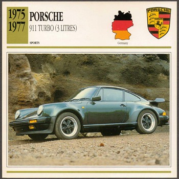Vintage Car Card - Porsche 911 Turbo - Classic Cars