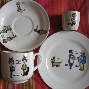 Japhet and Tim Tossett children's tea set
