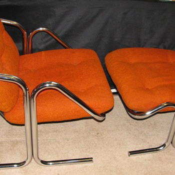 Mid Century Modern &quot;Arcadia&quot; Lounge chair and ottoman by Jerry Johnson