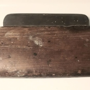 Home-made slate sharpening stone in walnut handle - Tools and Hardware