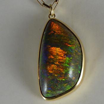 A Large Andamooka Sugar Treated Matrix Opal - Fine Jewelry