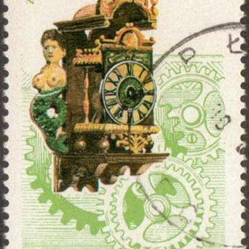 "Poland - ""Antique Clocks"" Postage Stamps"
