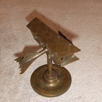 WW1 Trench Art Biplane on shell base c. 1918