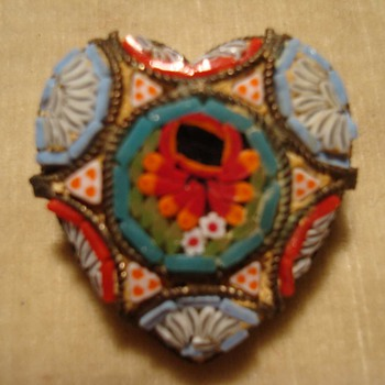 Micromosaic Heart Pin