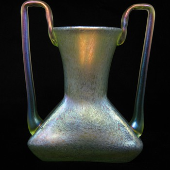 Possible Marie Kirschner for Loetz, Candia Cisele Handled Vase ca. 1905 - 1910