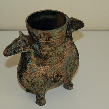 Bronze ram ritual vessel