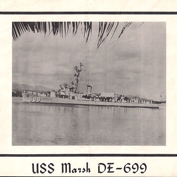 USS Marsh DE-699 Photo I Pamphlet - Military and Wartime