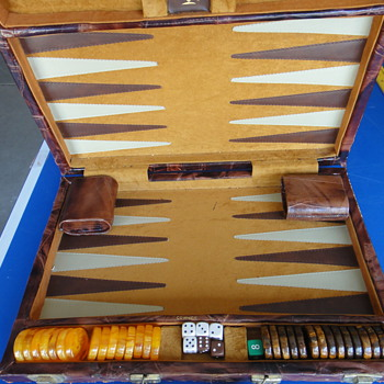 Antique backgammon board - Games