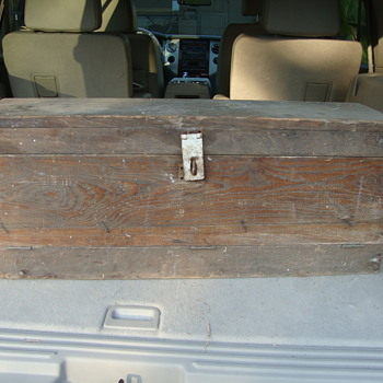 antique toolbox - cypress maybe? - Tools and Hardware